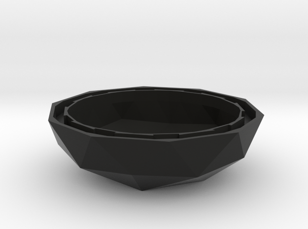 MGD-20: Plant-Pot for Mini Greenhouse-Dome in Black Natural Versatile Plastic