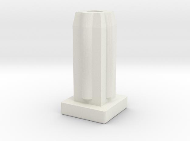 Square Tube Plain in White Natural Versatile Plastic