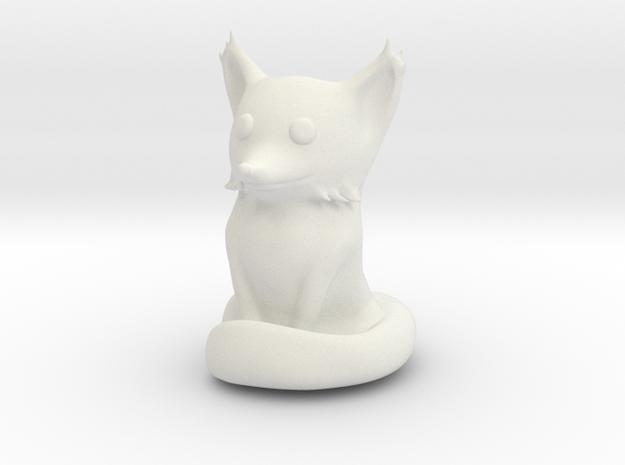 Cute Sandstone Fox in White Strong & Flexible