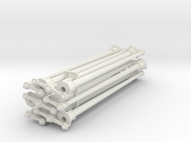 HO Scale Streetlight Posts in White Strong & Flexible