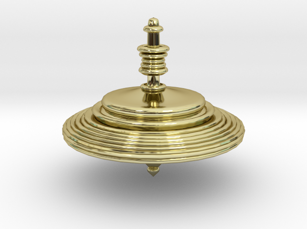 Ring Top in 18k Gold Plated Brass