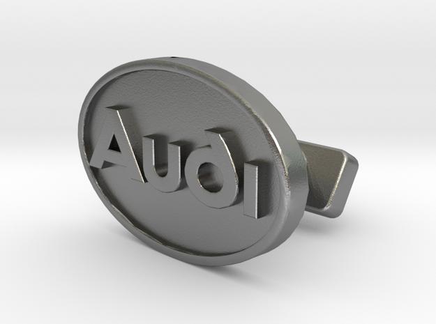 Audi Classic Cufflink in Raw Silver