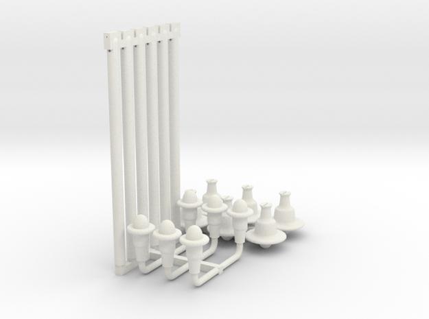12 Lamps 2 Types in White Natural Versatile Plastic