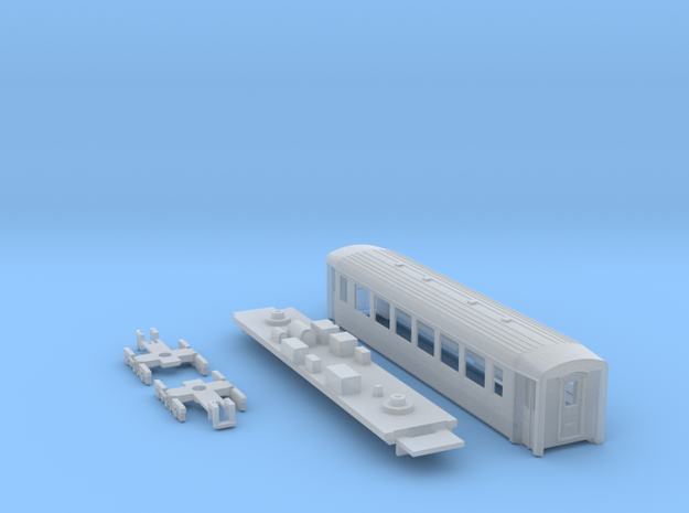 Passenger car type B-1S w/bogie in Smooth Fine Detail Plastic
