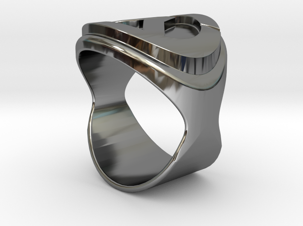 Overwatch logo ring in Fine Detail Polished Silver