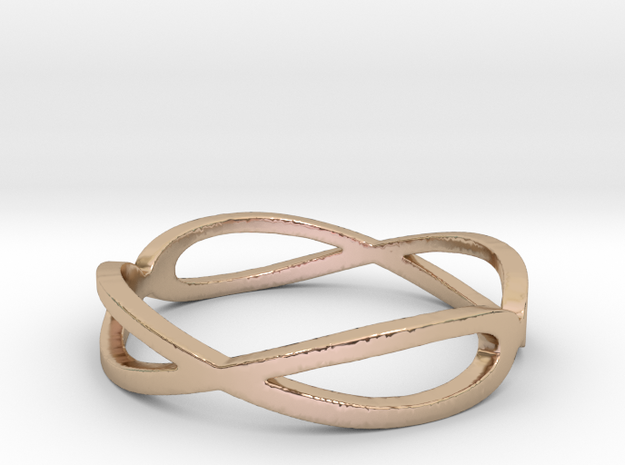 Aeon Double Infinity Ring Size 10.75 in 14k Rose Gold