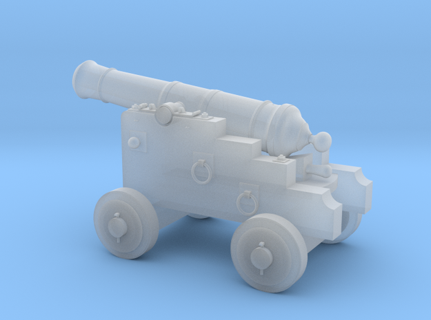 18th Century 3# Cannon-Small Naval Carriage 1/24 in Frosted Ultra Detail