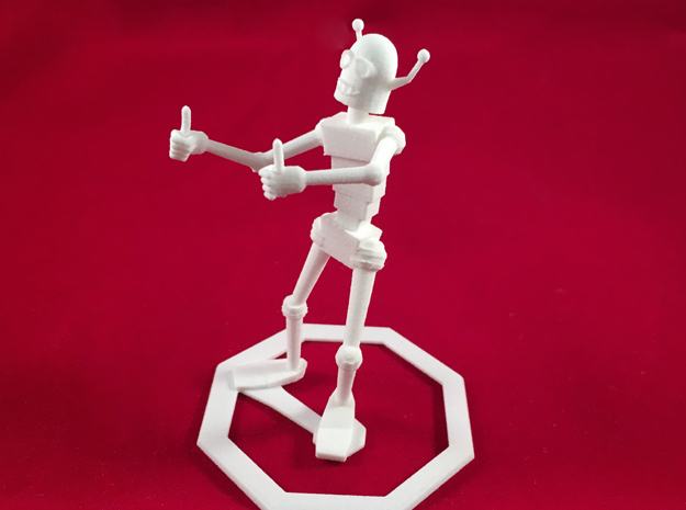 Encouraging Robot 3d printed