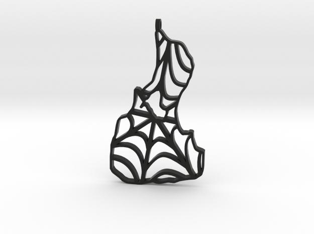 3D Printed Block Island Spidy Keychain  in Black Natural Versatile Plastic