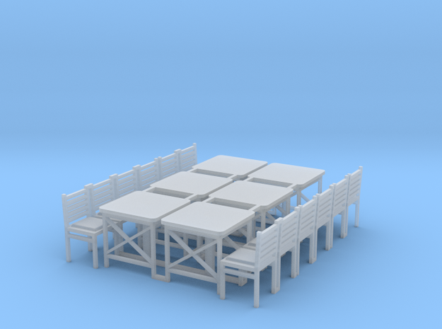 MOF Cafe Table(6)[72-1] in Smooth Fine Detail Plastic