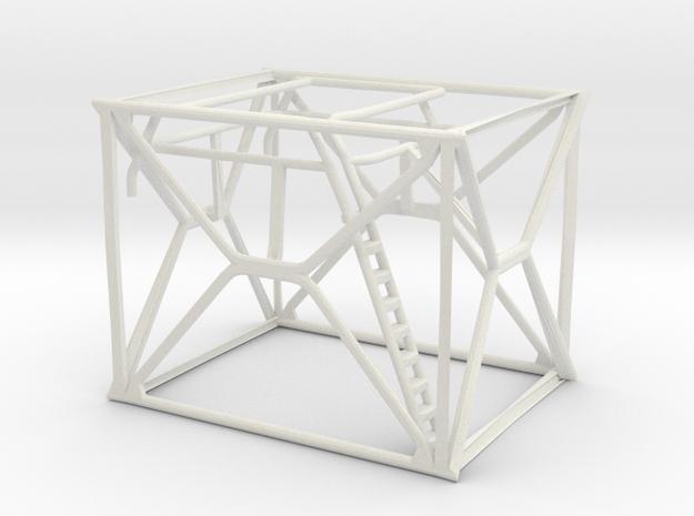 1/64 Modern Baler Railings in White Natural Versatile Plastic