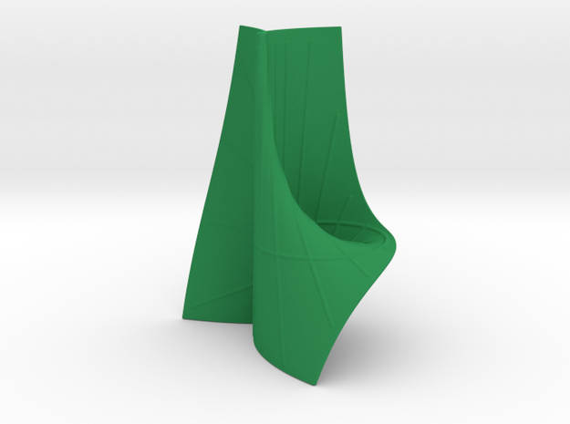 Ruled Cubic Surface with some Lines in Green Processed Versatile Plastic