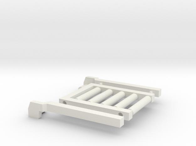 1/64 Bale Slide in White Natural Versatile Plastic