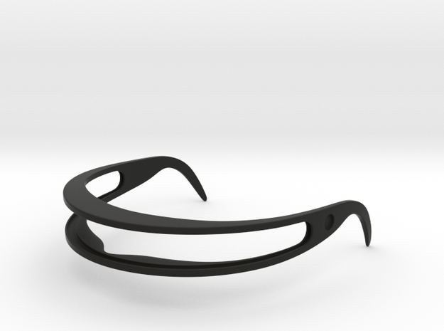 Star Trek Visor Frame in Black Natural Versatile Plastic: Small