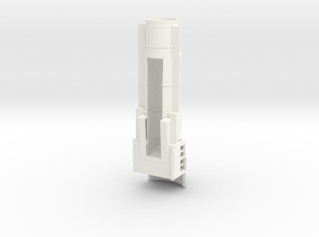 PRR H8/9/10 S Scale Basic, Empty Smokebox in White Processed Versatile Plastic
