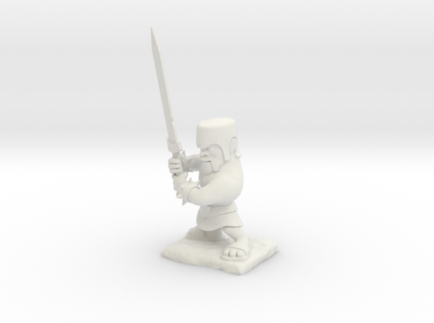 Clash of Clans - Barbarian in White Natural Versatile Plastic