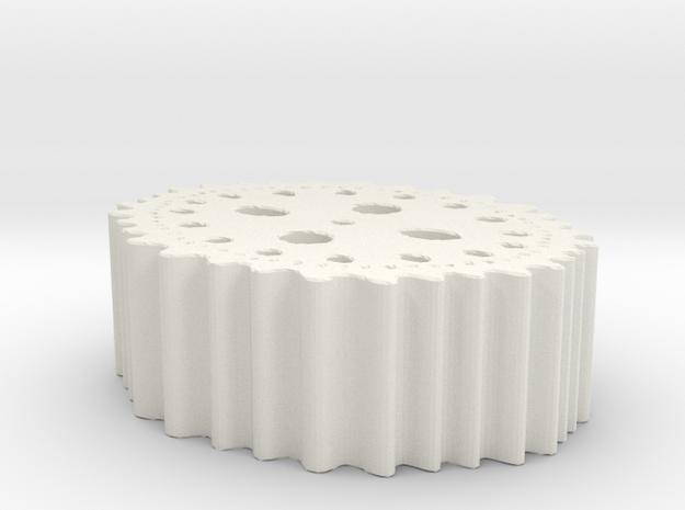 Juliahyperbulb-x^-2-it=7-x=-006 in White Natural Versatile Plastic