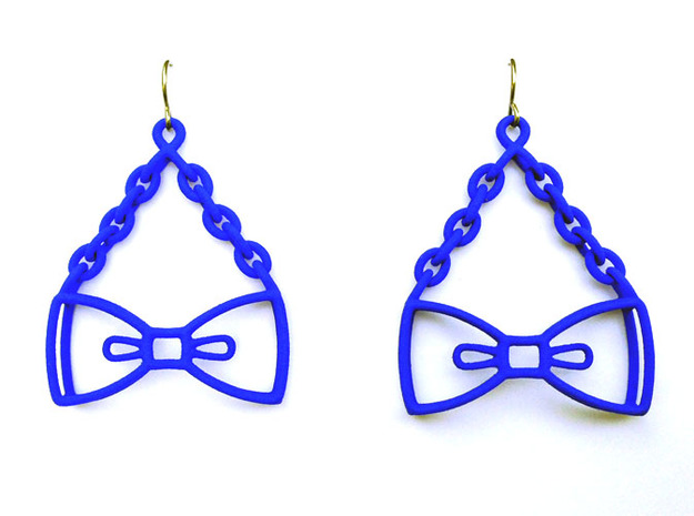 Bow Tie Earrings - in nylon