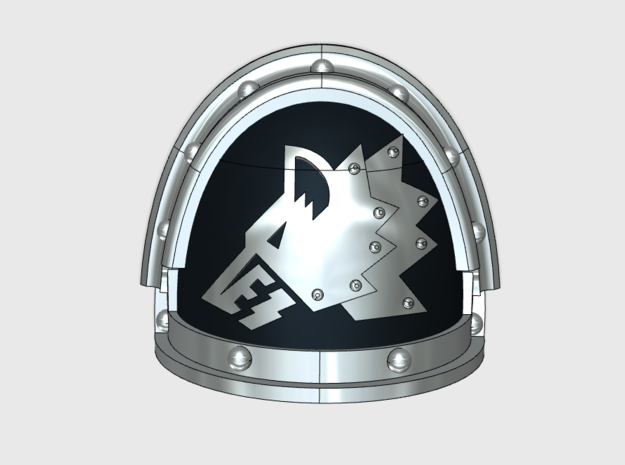 Iron Wolves - Gen3:Iron Left Shoulder x10 in Frosted Ultra Detail