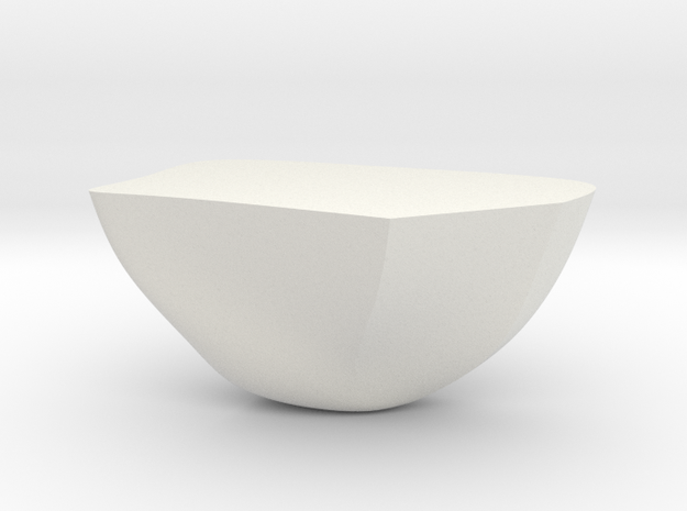 Rock Part 4 - 3D Print - REV1 - 02-23 in White Natural Versatile Plastic