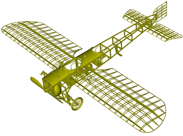 1/15 scale Bleriot XI-2 WWI model kit #1 of 4 in Smooth Fine Detail Plastic