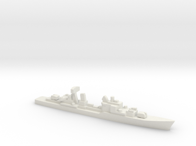 Friesland-class destroyer, 1/2400 in White Natural Versatile Plastic