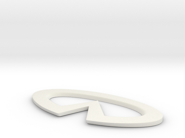 Infinity logo sign in White Natural Versatile Plastic