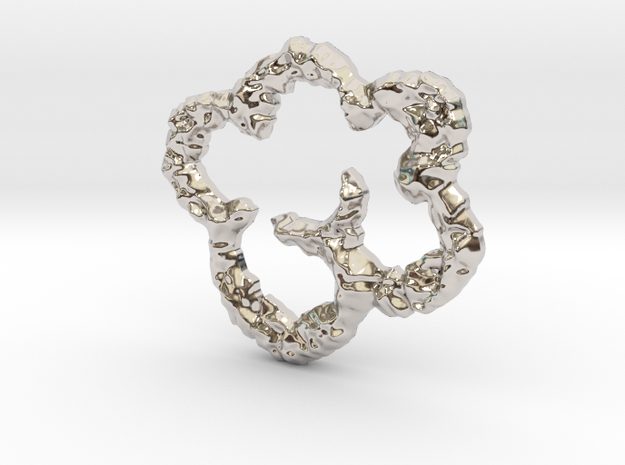puffy cloud in Rhodium Plated Brass