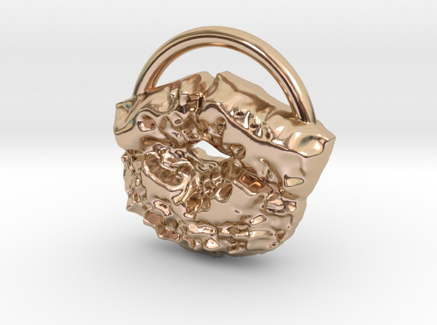 messy kiss in 14k Rose Gold Plated Brass