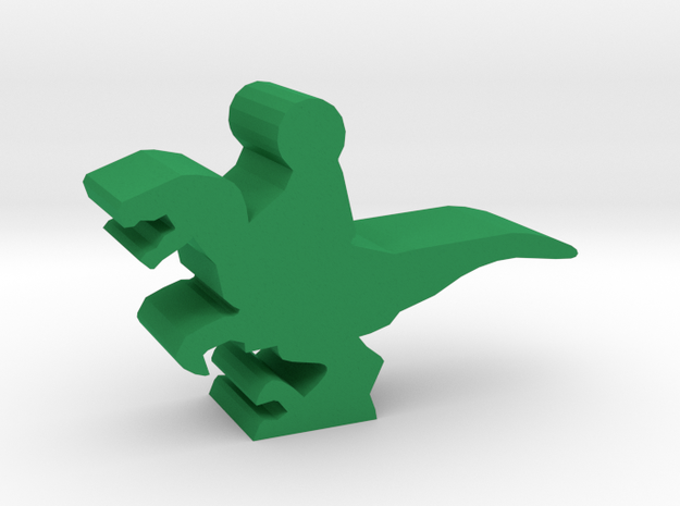 Game Piece, Raptor Dino Rider in Green Processed Versatile Plastic