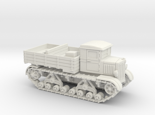 Voroshilovetz Tractor (15mm) in White Natural Versatile Plastic