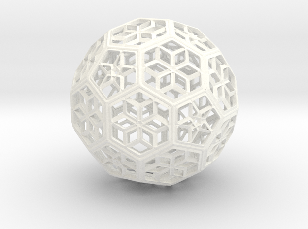 A footbal  symbol for competition in White Processed Versatile Plastic