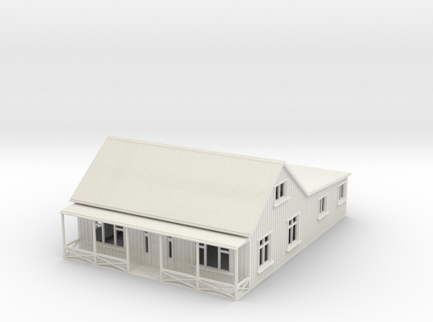 1:120 Cottage With veranda in White Natural Versatile Plastic