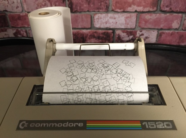 Plotter paper spool spindle, Commodore 1520 in White Strong & Flexible