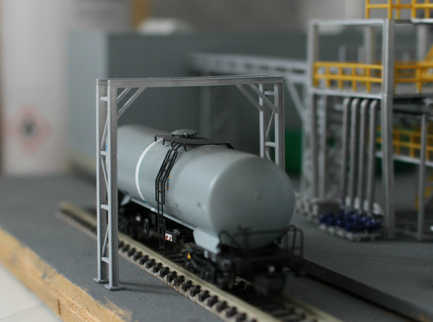 N Scale Pipe Bridge Single Track in Smooth Fine Detail Plastic