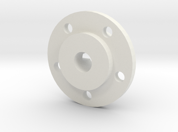 Mach5 Hubs Without Disks in White Natural Versatile Plastic