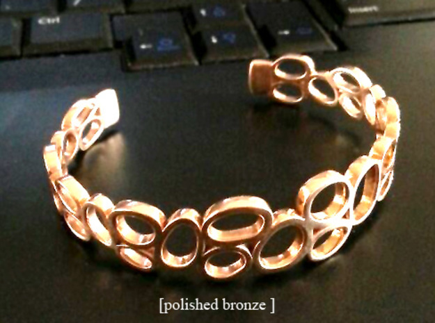Rings and Things Bracelet in Natural Silver