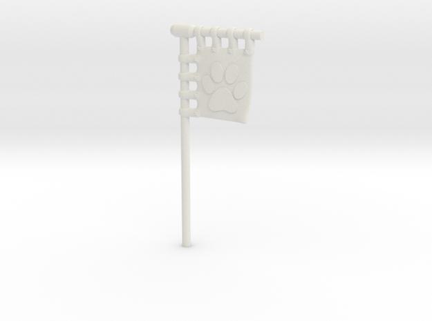 28/32mm Space Cats  - Sashimono Flag Short in White Natural Versatile Plastic