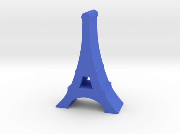 Game Piece, France Eiffel Tower in Blue Strong & Flexible Polished