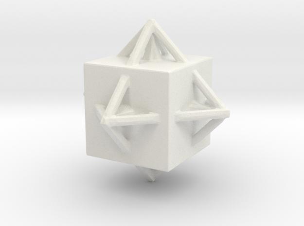 Diamond Necklace in White Natural Versatile Plastic