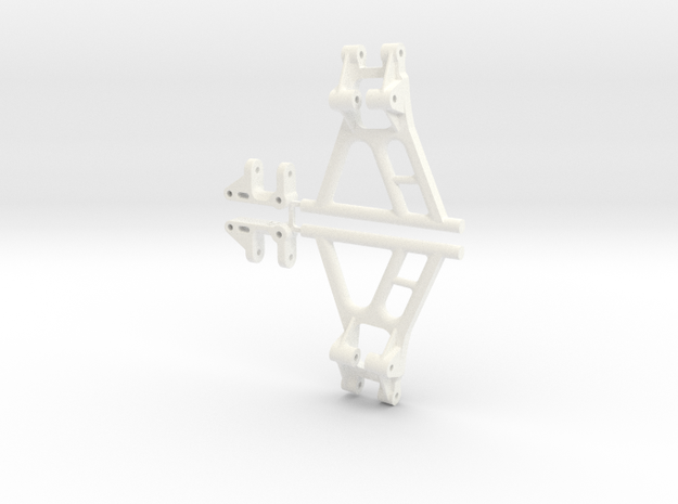 Tamiya Hornet Front Suspension, No Mount 045011-20 in White Processed Versatile Plastic