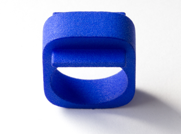 Squared Piece in Blue Processed Versatile Plastic: 8.5 / 58