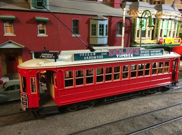 Auckland 1929 Tram - O Scale 1:43 (Part B) in White Natural Versatile Plastic