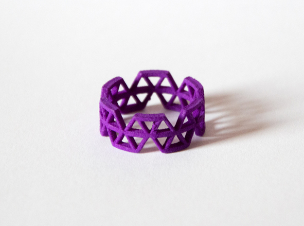 Triangle Jungle Ring in Purple Strong & Flexible Polished: 7 / 54