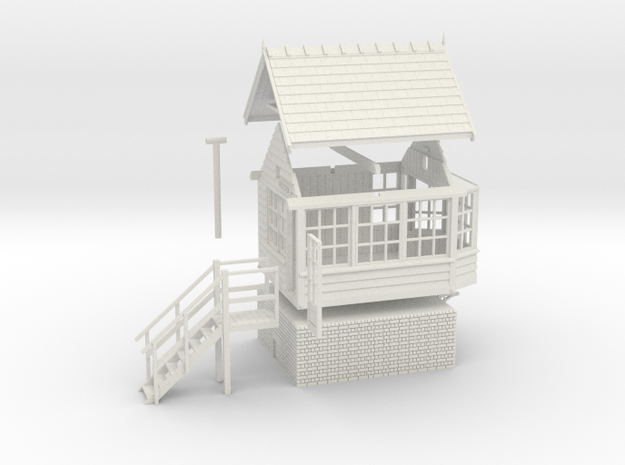 CO41 - Consall Signal box OO in White Natural Versatile Plastic
