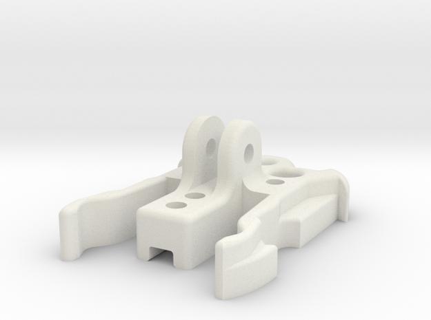 GimbalMount2Gopro SlideHolder in White Strong & Flexible