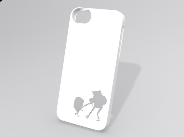 Adventure Time Inspired iPhone 5 case in White Strong & Flexible