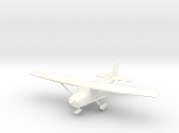 Cessna 172 Skyhawk 1/96 in White Strong & Flexible Polished