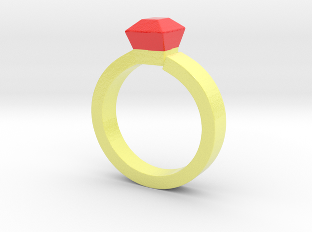 Proposal Ring .....10% to unprivileged child in Glossy Full Color Sandstone