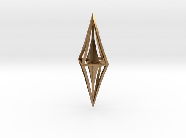 Diamond Pendant in Raw Brass